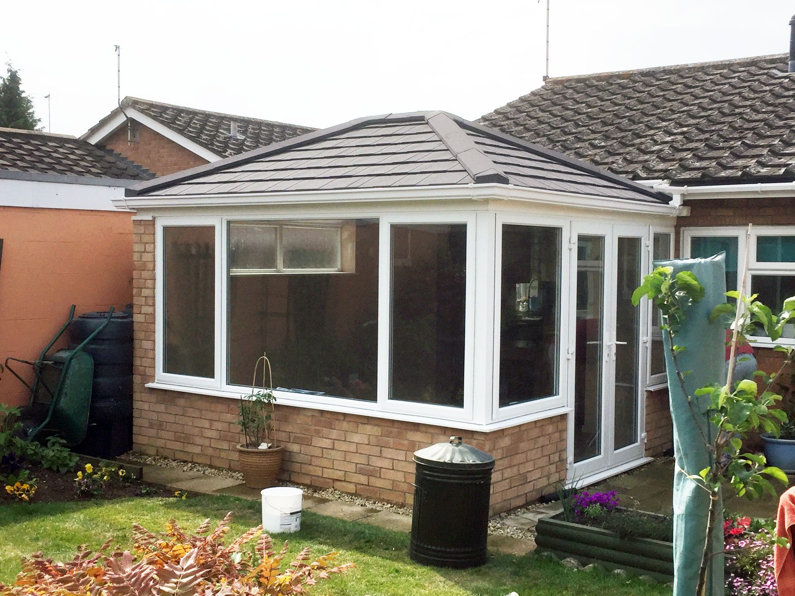 Double Hipped Tiled Conservatory Roof