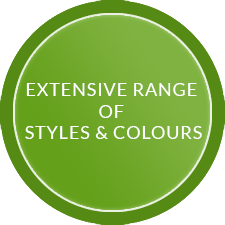 Extensive range of styles and colours