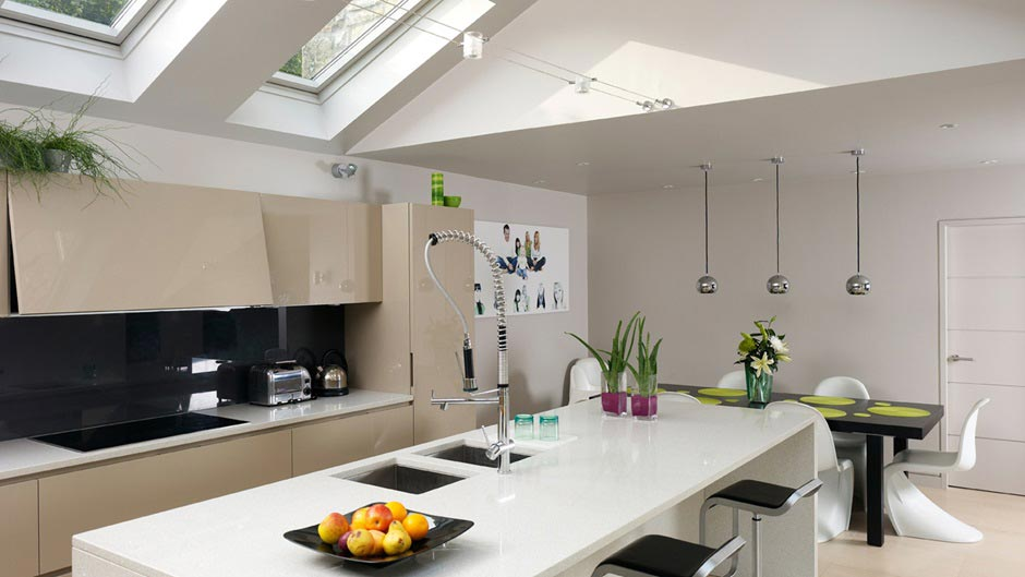 Kitchen Pitched Roof Island