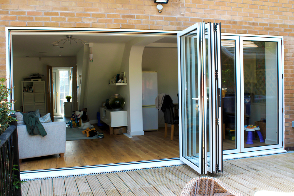 White Queniborough Bi Fold Door